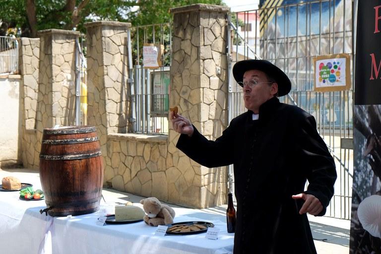 """""""Tabernáculo"""" s'ha pogut veure aquest diumenge al pati del carrer Unió (foto: Localpres)"""