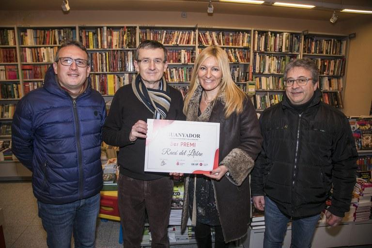 Concurs aparadors de Nadal 2018: 3r premi 'El Racó del Llibre''