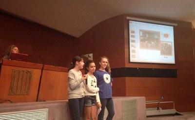 Les rubinenques Ara, Júlia i Núria van intervenir en una de les trobades.