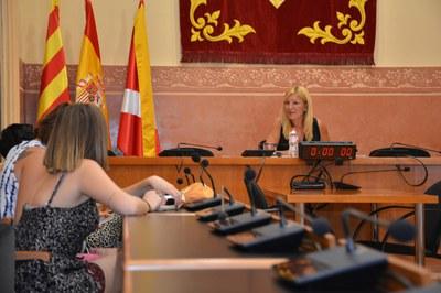 L'alcaldessa ha presentat la proposta de pressupost per a l'exercici 2019 als mitjans de comunicació locals (foto: Ajuntament – Localpres).