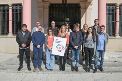 Els regidors i regidores de l'equip de govern, durant la presentació del Pla de mandat 2019-2023 (foto: Ajuntament de Rubí – Localpres).
