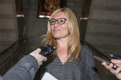 L'alcaldessa ha presentat la proposta als mitjans de comunicació (foto: Ajuntament – Lali Puig).