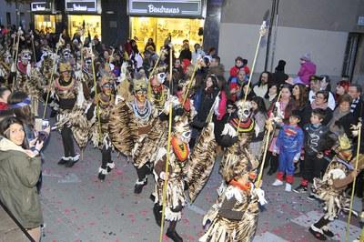 Tribu Kulungele, 2n premi del Concurs de comparses (foto: Localpres)
