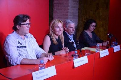 D'esquerra a dreta: Eduard Pallejà, Ana María Martínez, Miquel Llugany i Carme García Lores (foto: Localpres).