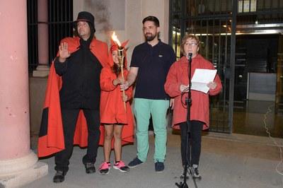 Lectura del manifest de la Flama del Canigó (foto: Localpres)