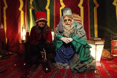 El Mag Rubisenc, amb el seu ajudant Melquíades (foto: Localpres).