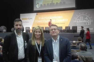Nuñez, Martínez i Güeto a la Fira (foto: Ajuntament de Rubí).