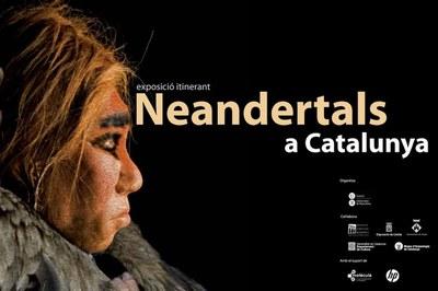 """Cartell de l'exposició """"Neandertals a Catalunya""""."""