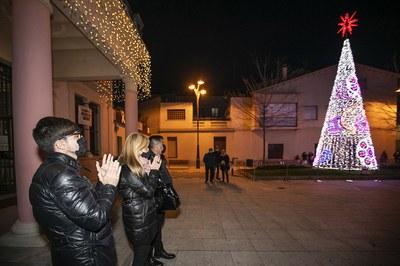 Els llums s'han encès simultàniament a diversos punts de la ciutat (foto: Ajuntament de Rubí - Lali Puig).