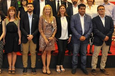 Els sis regidors de l'equip de govern al ple de constitució del nou  Ajuntament (foto: Localpres).
