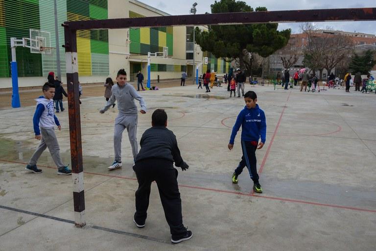 Els infants hi han pogut practicar esport (foto: Localpres)