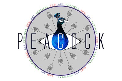 Logotip del Peacock Rubí Art Festival.