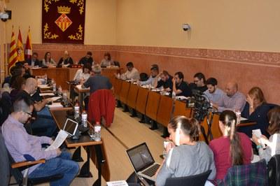 El Ple municipal s'ha celebrat aquest dijous a la Sala de Plens de l'Ajuntament.