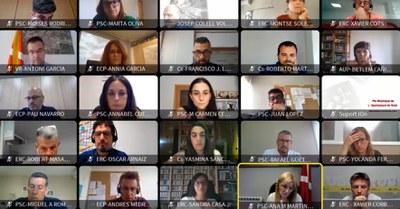 La sessió d'aquest dimarts s'ha celebrat de forma telemàtica (foto: Ajuntament de Rubí).