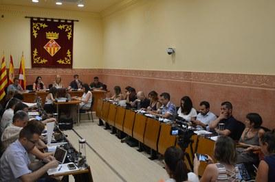 La sessió plenària corresponent al mes de juliol de 2019 s'ha celebrat aquest dijous (foto: Ajuntament).