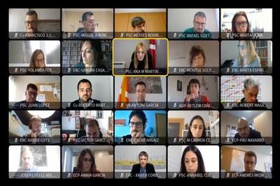 La sessió plenària ordinària del mes de febrer s'ha celebrat de forma telemàtica (foto: Ajuntament de Rubí).