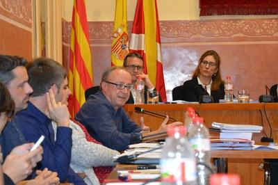 Martí Pujol s'ha acomiadat del ple després d'11 anys com a regidor d'ERC i 40 vinculat a la política local .