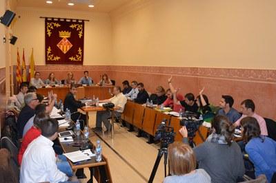 A la sessió ordinària corresponent al mes d'octubre s'han aprovat fins a tretze mocions.
