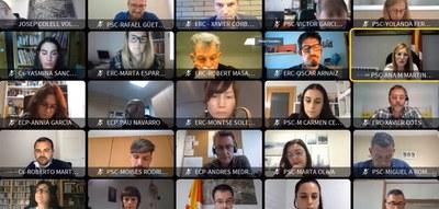 La sessió ordinària corresponent al mes de març s'ha celebrat de forma telemàtica (foto: Ajuntament de Rubí).
