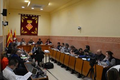 La sessió plenària corresponent al mes de desembre ha tingut lloc a la Sala Enric Vergés.
