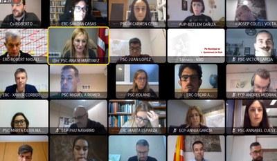 El ple corresponent al mes de novembre s'ha celebrat de forma telemàtica (foto: Ajuntament de Rubí).