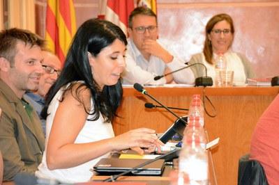 Arés Tubau s'ha acomiadat del Ple fent balanç dels seus deu anys com a regidora .