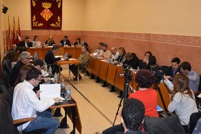 La sessió ordinària del mes de gener s'ha caracteritzat per haver aprovat un gran nombre de mocions per Junta de Portaveus.