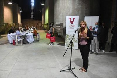 L'alcaldessa ha donat la benvinguda al jurat (foto: Ajuntament de Rubí - Localpres).