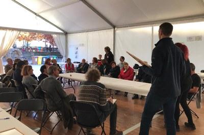 Unes 25 persones han participat al taller presencial