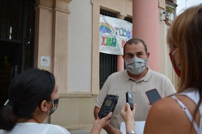 El regidor ha atès els mitjans aquest divendres (Foto: Ajuntament).