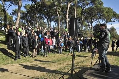 Treballadors i familiars s'han donat cita a Ca n'Oriol (foto: Localpres)