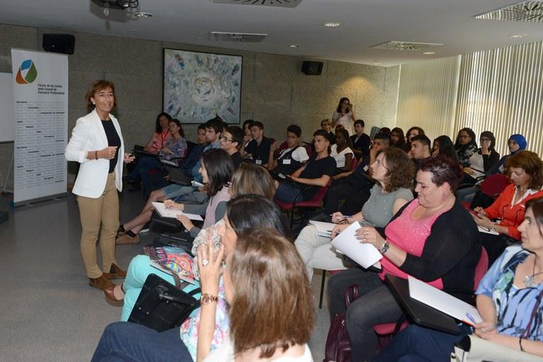 Joana Ferrer, del Departament d'Ensenyament (foto: Localpres)
