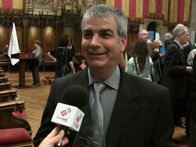 Josep Puigventós ha estat reconegut amb un dels Premis Capital de la Sardana (foto: Ràdio Rubí).