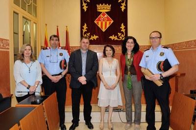 Els Mossos d'Esquadra de Rubí han reconegut i agraït la col·laboració del servei de la Dona del Consistori rubinenc (foto: Localpres).