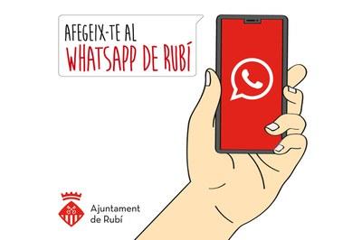 Per inscriure's al servei de WhatsApp de Rubí cal omplir un formulari.