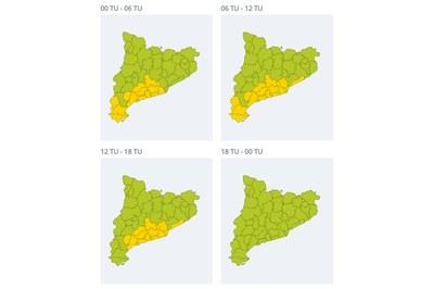 Evolució del vent prevista durant el dia de Reis (font: SMC).