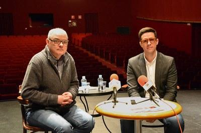 El director de La Sala i el regidor de Cultura.
