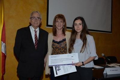 """El primer finalista ha estat el treball """"La força invisible"""", de Mireia Sallés, del Col·legi Maristes (foto: Localpres)"""