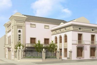 Imatge virtual de la façana del Casino, un cop s'hagi completat la rehabilitació de l'edifici (foto: Ajuntament).