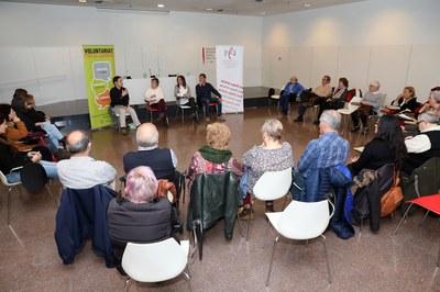 Un moment de la presentació a la biblioteca (foto: Ajuntament de Rubí - Lali Álvarez).