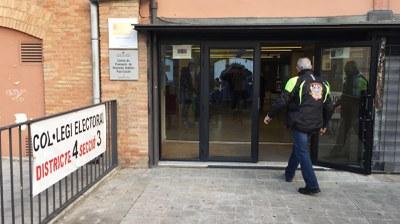 Els col·legis han obert amb normalitat (foto: Localpres).