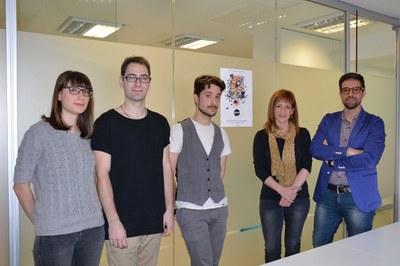 Part dels organitzadors de l'InFest, amb els regidors de Joventut i Cultura.