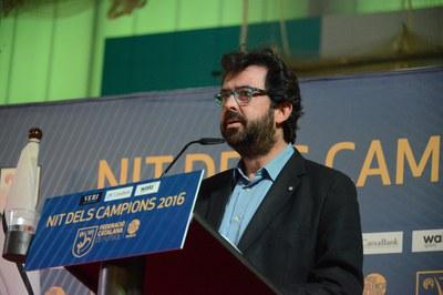 Albert Montull, de la Federació Catalana de Futbol (foto: Localpres)