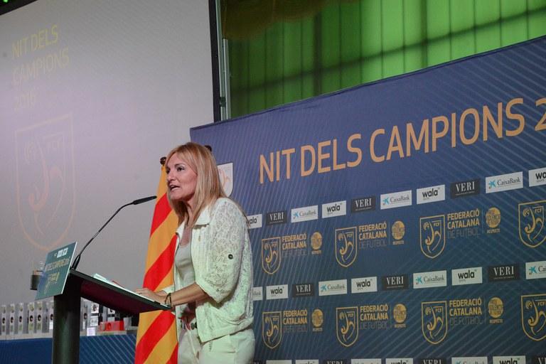 L'alcaldessa, durant el seu discurs (foto: Localpres)
