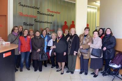Membres del Consell Consultiu de la Gent Gran al local de Creu Roja (foto: Localpres).
