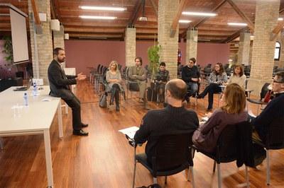 El regidor Jaume Buscallà durant la presentació de la jornada (foto: Localpres).