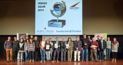 Tots els guardonats als Premis Solar (foto: Luis Camargo).