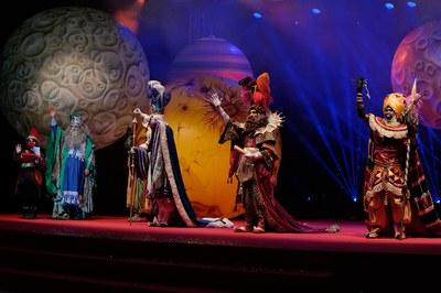Els Reis d'Orient, en el moment de la seva arribada a Rubí (foto: Ajuntament de Rubí - Localpres).