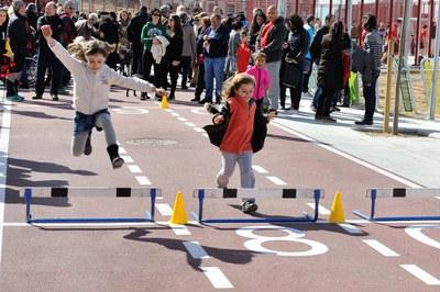 També s'han organitzat activitats a la recta d'atletisme del parc (foto: Localpres)