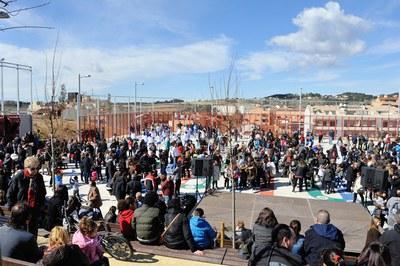 La festa d'inauguració del parc de La Serreta ha estat molt participativa (foto: Localpres)